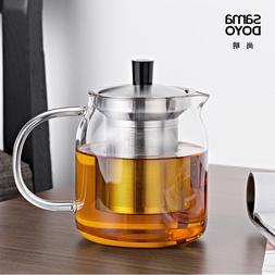 Samadoyo Elegant Cup Heat Resistant Glass <font><b>Teapot</b
