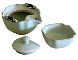 Satin-Finish Japanese Tea Set in Sage Green for One