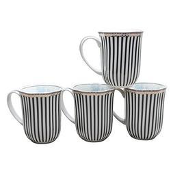 Grace Teaware Scallop 12-Ounce Porcelain Coffee Mug Set of 4