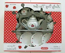 Schylling Lady Bug Tea Set Porcelain 13 pieces Ages 8+ for C