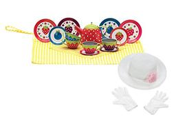 Scylling Very Berry Tin Tea Set with Fun Express Polyester T