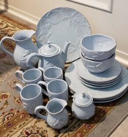 Blue Sky Ceramics Seahorse Starfish Seashell Dinnerware Tea