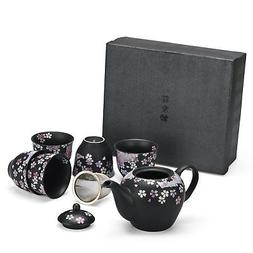Seb's Kitchen Japanese Handcrafted Cherry Blossom 6pc Tea Gi