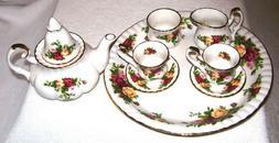 Royal Albert Serveware, Old Country Roses 9 Piece Mini Tea S