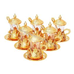 SALE SET 6 Handmade Turkish Tea Water Zamzam Serving Glasses