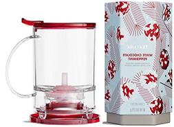 Teavana Set: Dark Red Perfectea Maker 16 oz and White Chocol