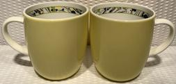 "Set Of 2 ~ 4"" Novella Limelight Portmeirion Yellow Coffee"