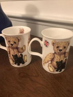 Set Of 2 ROY KIRKHAM Lost Bear Fine Bone China Coffee Tea Mu