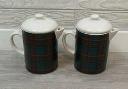 SET OF 2 NEW  Tea/Coffee Pot Beverage ServerS Plaid Hearth &