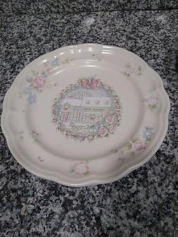 "Set of 2 - Pfaltzgraff TEA ROSE Luncheon Plates - 9 1/4"" Gen"