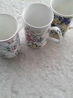 set of 3 fine bone china tea