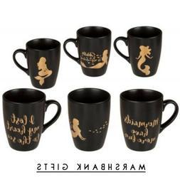 SET OF 3 MERMAID COFFEE TEA MUG DRINKING KITCHEN STONEWARE C