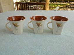 """Set of 3 Auratic New Bone China 3 1/4"""" Tea Cups"""