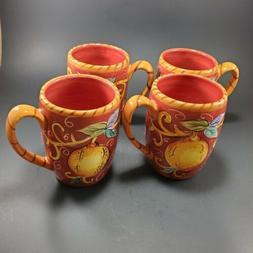 Set of 4 Coffee Tea Mugs by Tabletops Lifestyles Villa Antiq
