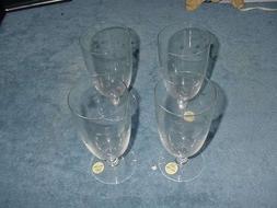 Set of 4 Princess House Heritage Crystal Iced Tea Goblets, N