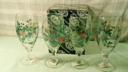 Portmeirion Set of 4 Ice Tea Water Holiday 16 oz Glass Goble