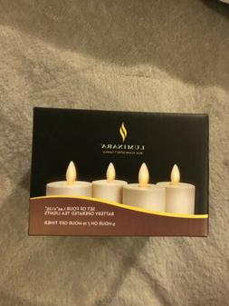 "Luminara Set of 4 IVORY Battery Operated TEA LIGHTS 1.44"" X"