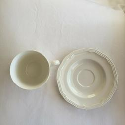 Set of 4 Mikasa Tea Cup and Saucer Ultima + Antique White.