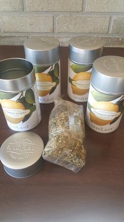 Tea Forte SET OF 4 tins LEMON SORBETTI organic Loose Leaf Gr
