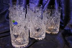 Set of 6 Neman Glass, 8-Oz Hand Made Vintage Russian Crystal
