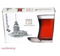 SET of 6 Turkish Tea Glass & Glass Serving Cup Pasabahce Hig