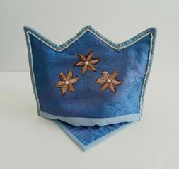 Handmade Set of Tea Cozy Crown Light Blue Teapot Coaster