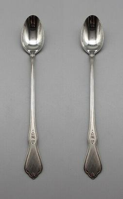 set of two stainless morning blossom iced