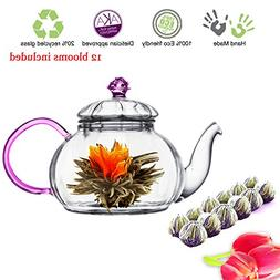 Tea Beyond Tea Set Pink Juliet 20 Oz590 Ml and Detox Floweri