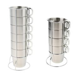 Perfeclan Set Stainless Steel Coffee Cups Water Tea Mugs Sta