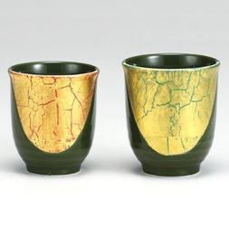 Kutani set teacup gold leaf color