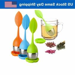Silicone Loose Leaf Tea Infuser Stainless Steel Tea Steeper