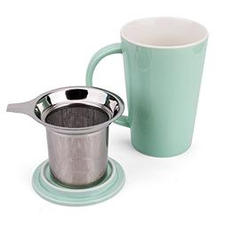 Enindel Fashion Simple Style Tea Mug with Infuser and Lid 14