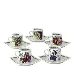 Cardew Design Snow White Tea Party Cup & Saucer , 3 oz, Mult