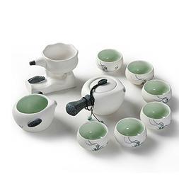 Snowflakes Glaze Ceramic Kung Fu Tea Set Tea Service