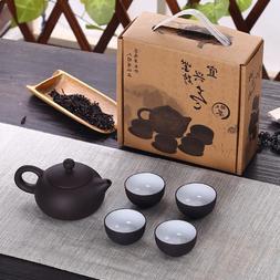 Soffe Purple Sand Ceramic Chiness Kung Fu Teapot <font><b>Se