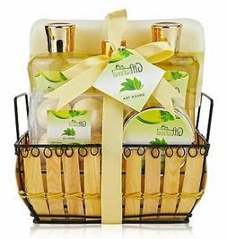 Spa Gift Basket with Rejuvenating Green Tea Fragrance - Grea