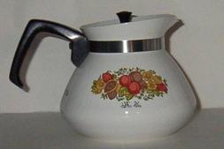Corning Spice of Life  Teapot Tea Pot 6 cup w/lid