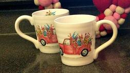 Maxcera SPRING COLLECTION Coffee Tea Ceramic Mugs SET OF 2 B