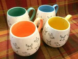 M Meritage Spring Easter Rabbit Bunny Matching Coffee Mugs T