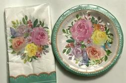 SPRING SUMMER MOTHER'S DAY TEA PARTY PLATES & NAPKINS DECORA