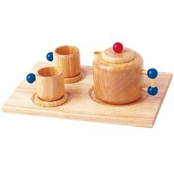 Santoys Wooden Tea Set - Teapot & Mugs