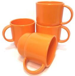 Tupperware Stacking Coffee Mugs Tea Cups Radiance Orange 4 P