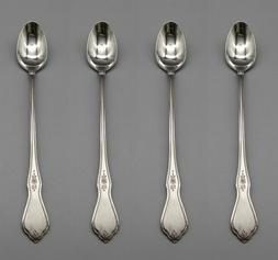 Oneida Stainless Morning Blossom Iced Tea Spoons - Set of Fo