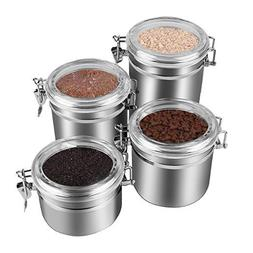 4-Piece Stainless Steel Airtight Canister Set, Beautiful Foo