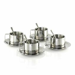 Stainless Steel Coffee, Cappuccino, Expresso, Tea Cups and S