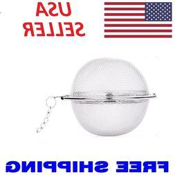 Stainless Steel Mesh Tea Ball Tea Infuser Seasoning Strainer