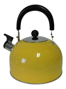 Stainless Steel Whistling Kettle Hot Water Tea Stovetop Pink