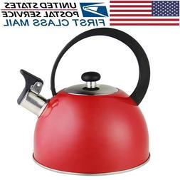 Stainless Steel Whistling Tea Kettle 2.7-Quart StoveTop Kett