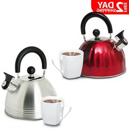Stainless Steel Whistling Tea Kettle Hot Water Boiling Stove