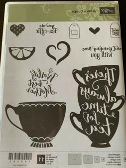 Stampin Up Stamp Set A NICE CUPPA photopolymer, NEW, Cups Te